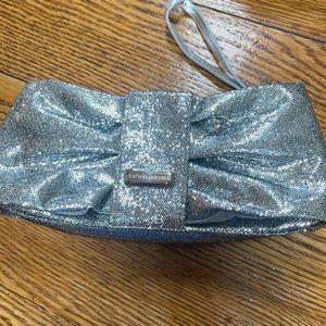 Victoria's Secret glittery silver evening bag